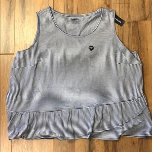 NWT Lands' End Ruffle Easy Tank Washed Blue